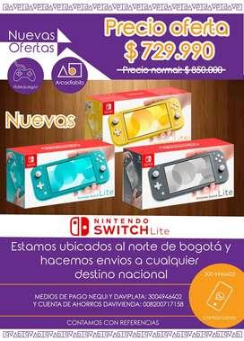 Nintendo Switch Lite Nuevas (Amarilla, Turquesa, Gris)
