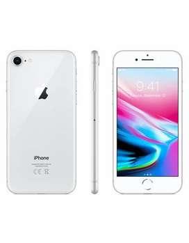 Apple iPhone 8- Silver 64 Gb- Caja Completo Como Nuevo!