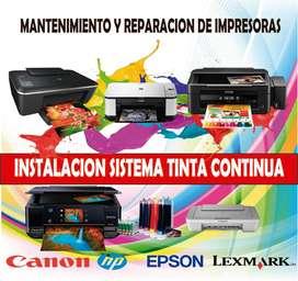 INSTALACIÓN SISTEMA DE TINTA CONTINUA IMPRESORAS CANON - HP - EPSON