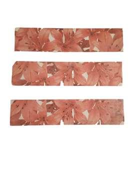 Guarda Cerámica Chanel Rojo 8x35 Cm Lote 14 Unidades
