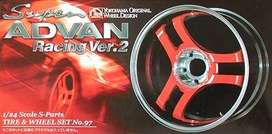 Llantas Aoshima Super Advan Ver 2 19  1/24 Auto Armar