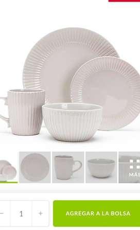 vajilla de cerámica 16 piezas