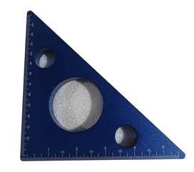 Regla Triangular color Azul para Carpintero.