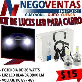 KIT DE LUCES LED C6 PARA CARRO