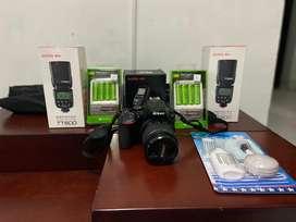Camara D5600 y set de flash