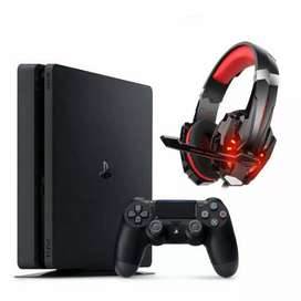 Consola PS4 + Auriculares gamer