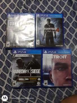 Vendo juegos de PS4 o cambio por un celular