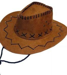 Sombrero Vaquero Niño Gamuza Talla Unica Toy Story Disfraz