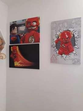 Trio de cuadros cuarto de niño