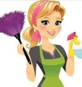 Limpiadora joven por horas