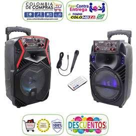 Cabina Sonido Bluetooth 1000w PMPO + Micrófono + Control, Nuevas, Originales, Garantizadas...
