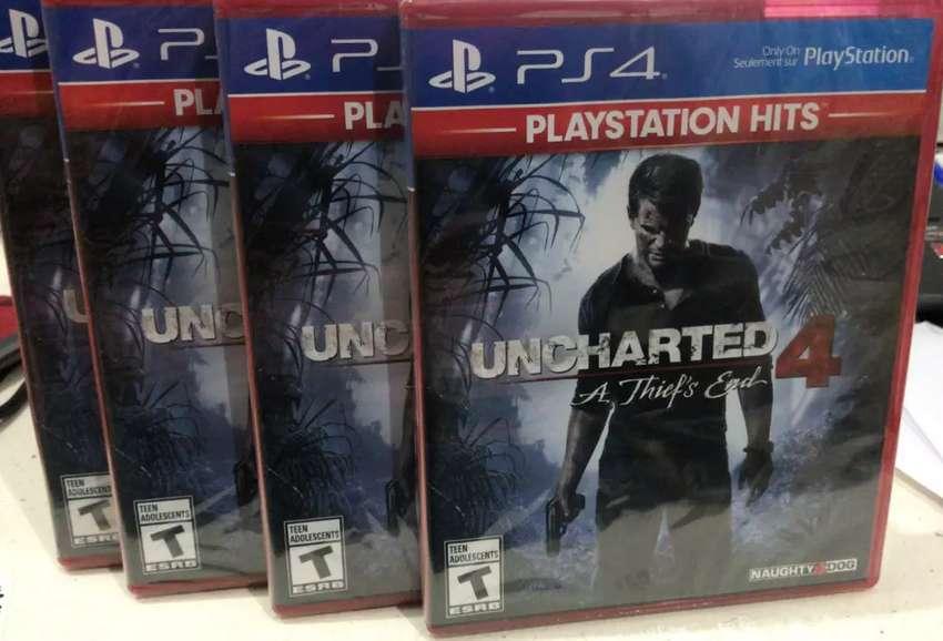 UNCHARTED 4 PS4 NUEVO SELLADO 0