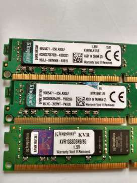 Memorias ram DDR3 8gb para pc de escritorio