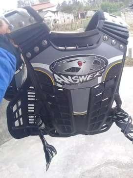 Pechera de Motocross y botas talla 41