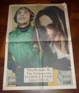 SUPLE EL ROCKERO 17 NOTICIAS 1999 POSTER ILLYA KURYAKI AND THE VALDERRAMAS . EN TAPA Y NOTA ORIONS