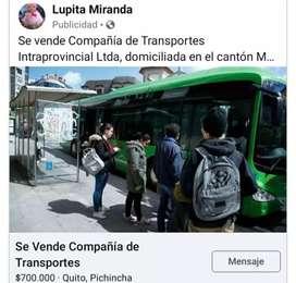 Vendo compañía de transporte intraprovincial
