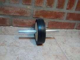 Rueda abdominal mango de aluminio