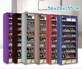 Zapatero cubierto de tela 9 niveles organizador de zapatos 27 pares