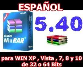 WINRAR 5.4 32 o 64 bits COMPRIME O DESCOMPRIME CHAVEZ COMPUTACION