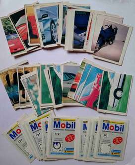 LÁMINAS ÁLBUM MOBIL AUTOMÓVILES Y MOTOCICLETAS 1992 (CARVAJAL-PANINI)