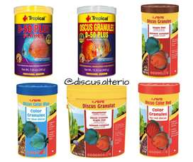 Comida para peces disco y ciclidos marca Sera, Tropical, Discusfood, Brightwell Aquatics