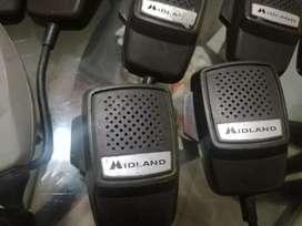 Monótonos micrófonos marca Milánd Kenwood para colocarlos cable resortdo