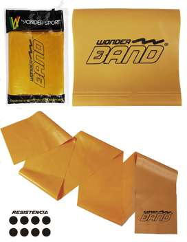 banda elastica resistencia dorada 160 cmts won