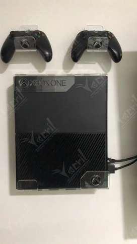 Soporte pared Xbox one fat + soporte fuente de poder + 2 soportes de control
