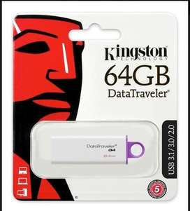 PEN DRIVE 64GB KINGSTON  USB3.0/3.1 DATATRAVELER ENVÍOS