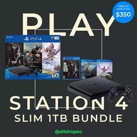 Sony playstation 4 Slim 1TB con 3 juegos NUEVA