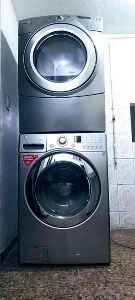 Labadora carga frontal LG y secadora whirlpool