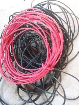 Cable 6mm nuevo 50 m del negro 15m de rojo