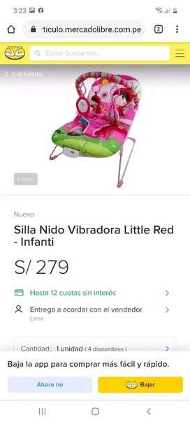 REMATO mesedora infanti nuevas sellada en 110 soles paea bb mujer