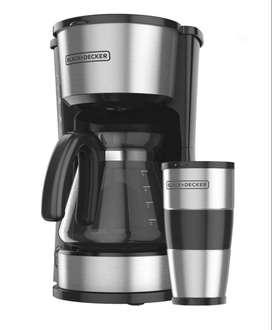 Cafetera Black Decker 4 en 1 12 Tazas Soporte Ajustable
