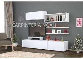 Modular Rack Moderno Para Tv Lcd Led Carpintería Noah