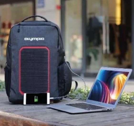 Mochila Solar ¡7w! Carga Batería Celular Notebook Con Envío 0