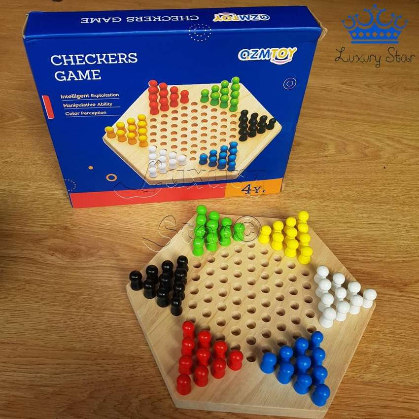 Damas Chinas 6 Jugadores Madera Checkers Ozmtoy Juego Mesa 0