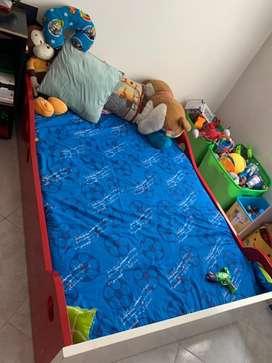 Base cama para niño, lista para decorar como carro