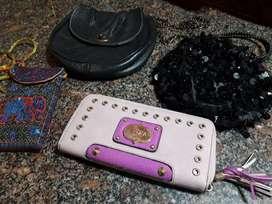 Lote carteras chicas y billetera