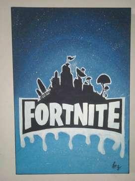 Cuadro de Fortnite