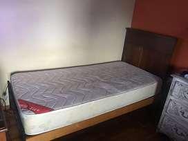 2 camas + 2 colchones flexigom 90x190 x20 de altura