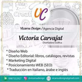 Diseñadora grafica y  diseño web