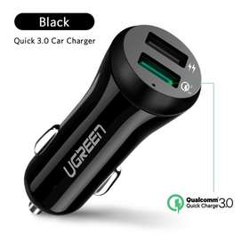 Cargador De Carro Carga Rápida Qualcomm Qc3.0 - Doble Usb
