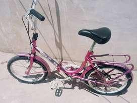 Bicicleta plegable R 16 tipo aurorita antigua retro
