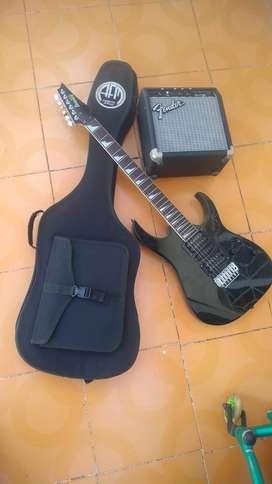 Vendo guitarra electrica en buen estado con amplificador