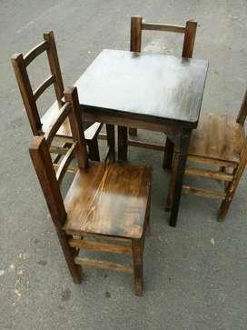 Sillas Y Mesas para Negocio Cafeteria
