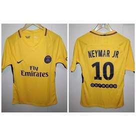Camiseta PSG suplente amarilla Neymar