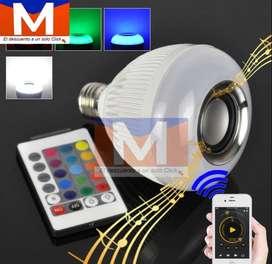 Foco Parlante Bluetooth Con Luces Led Con Control**