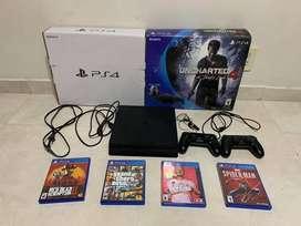 PlayStation 4 Slim como nuevo, caja y accesorios ORIGINALES.