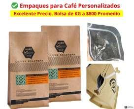 Empaques Para Café Personalizados 1/4L 1/2L 1Libra 1Kilo